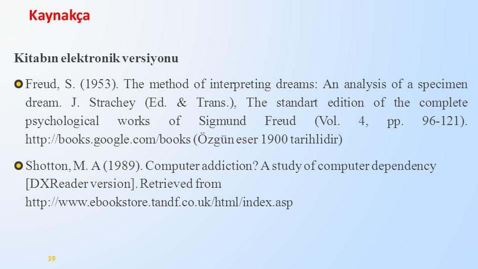 Kaynakça Kitabın elektronik versiyonu