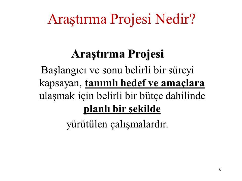 Araştırma Projesi Nedir