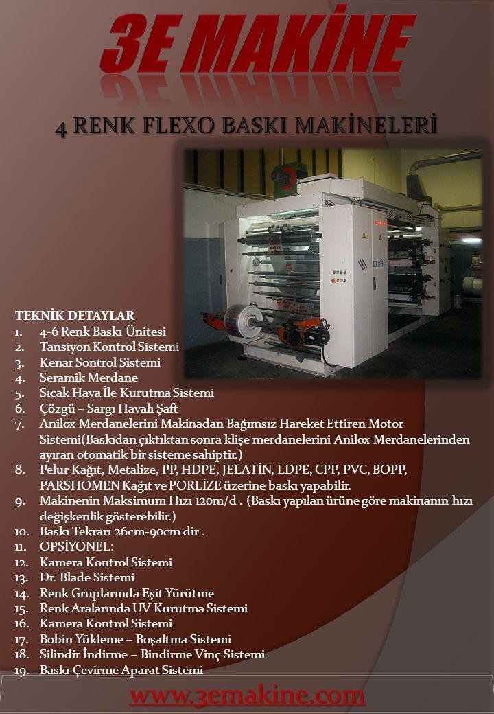 4 RENK FLEXO BASKI MAKİNELERİ