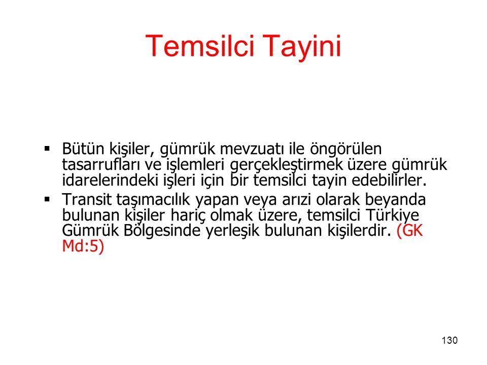 Temsilci Tayini