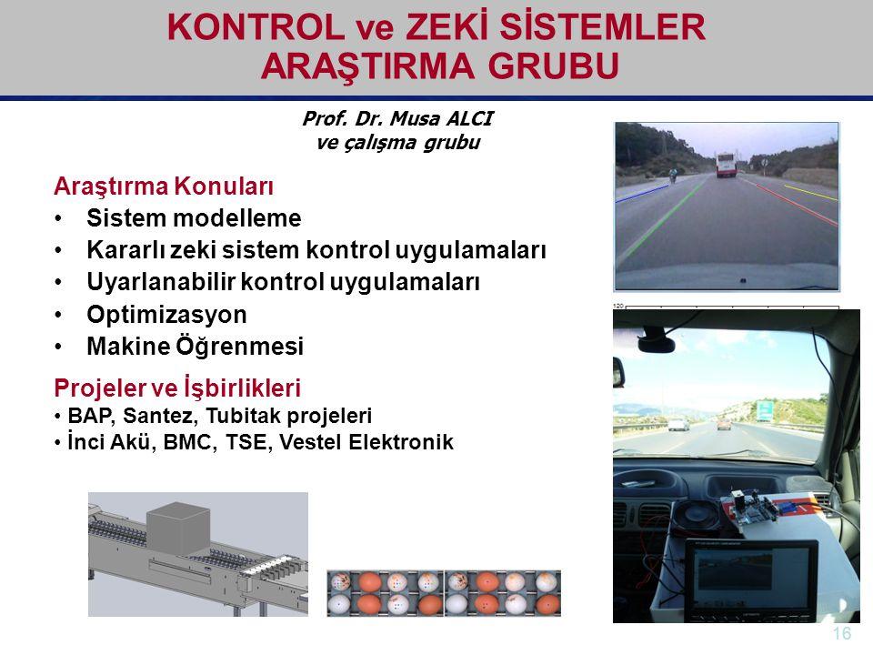 KONTROL ve ZEKİ SİSTEMLER ARAŞTIRMA GRUBU