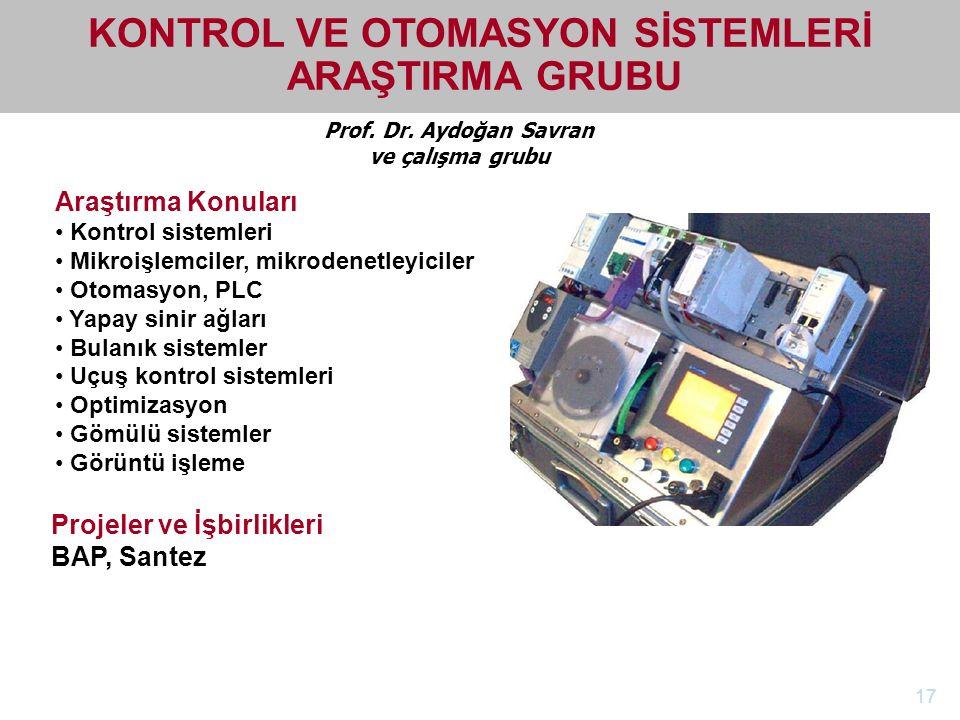 KONTROL VE OTOMASYON SİSTEMLERİ ARAŞTIRMA GRUBU