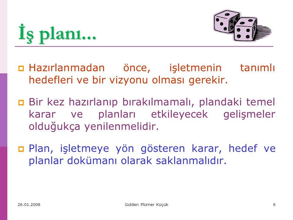 İş planı... Hazırlanmadan önce, işletmenin tanımlı hedefleri ve bir vizyonu olması gerekir.