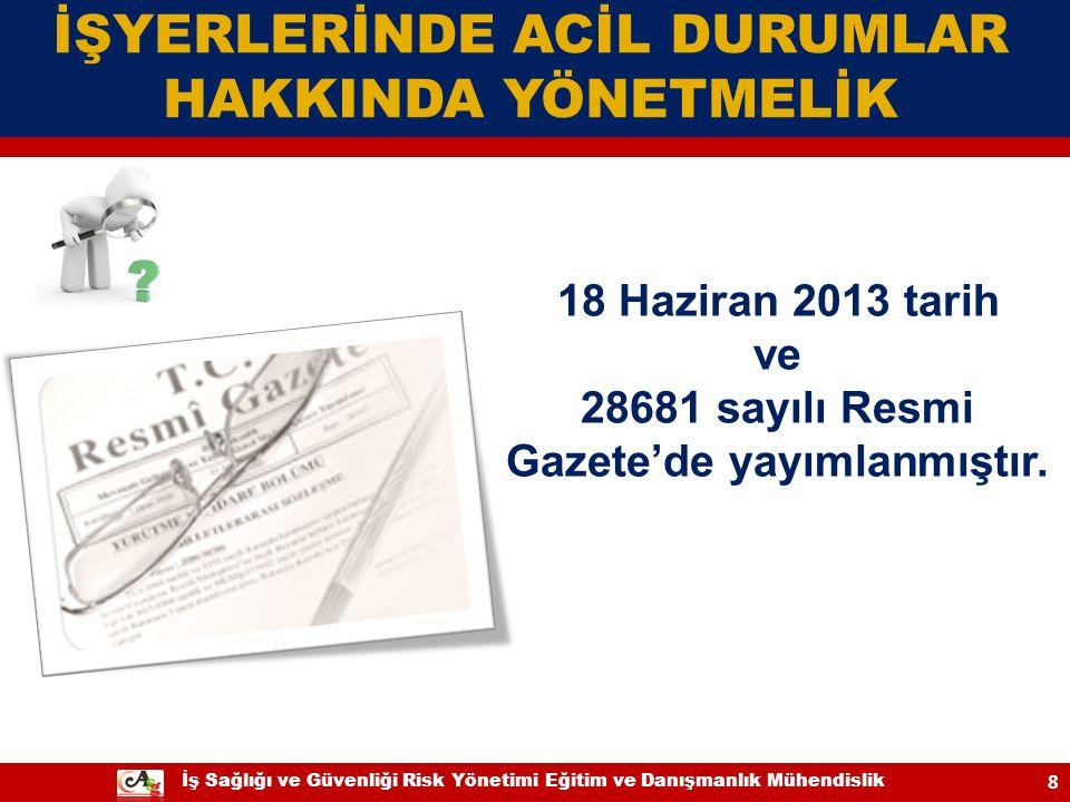 28681 sayılı Resmi Gazete'de yayımlanmıştır.