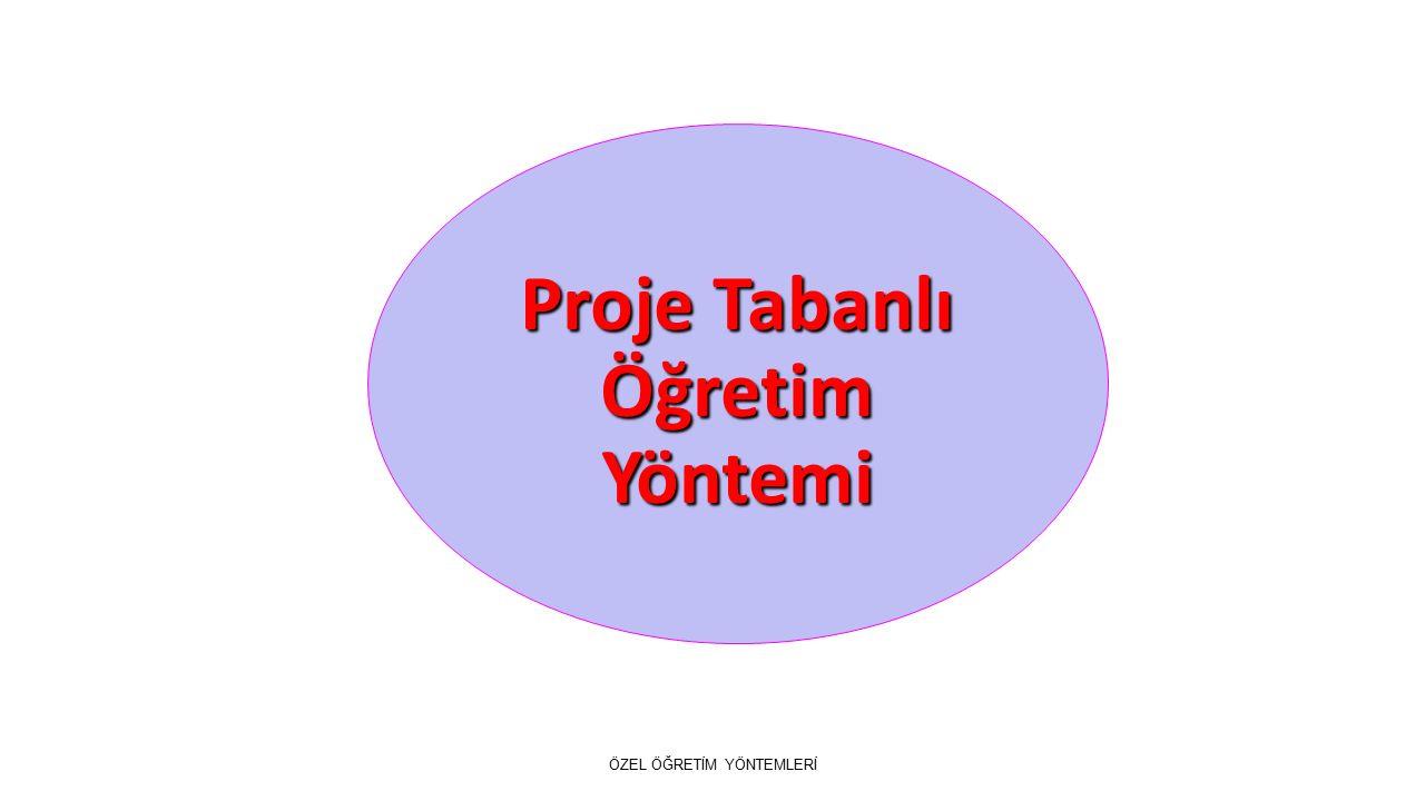 Proje Tabanlı Öğretim Yöntemi