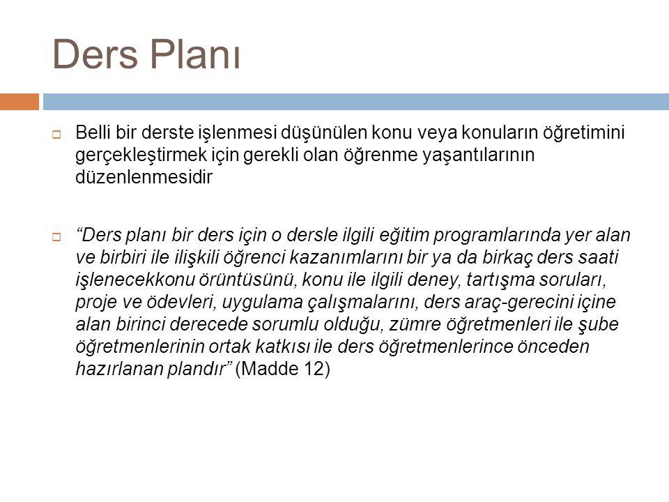 Ders Planı