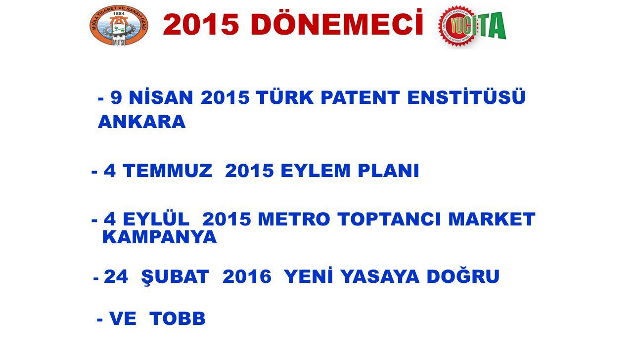 2015 DÖNEMECİ - 9 NİSAN 2015 TÜRK PATENT ENSTİTÜSÜ ANKARA