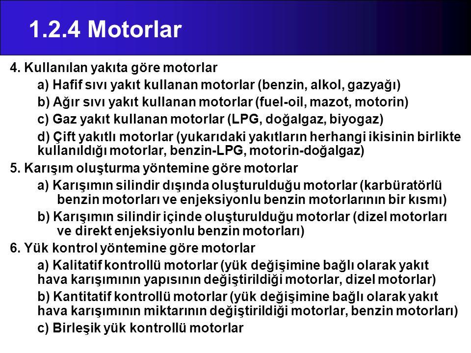 1.2.4 Motorlar 4. Kullanılan yakıta göre motorlar