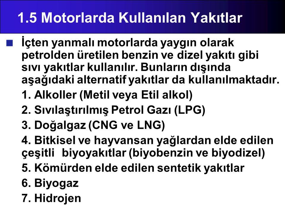 1.5 Motorlarda Kullanılan Yakıtlar