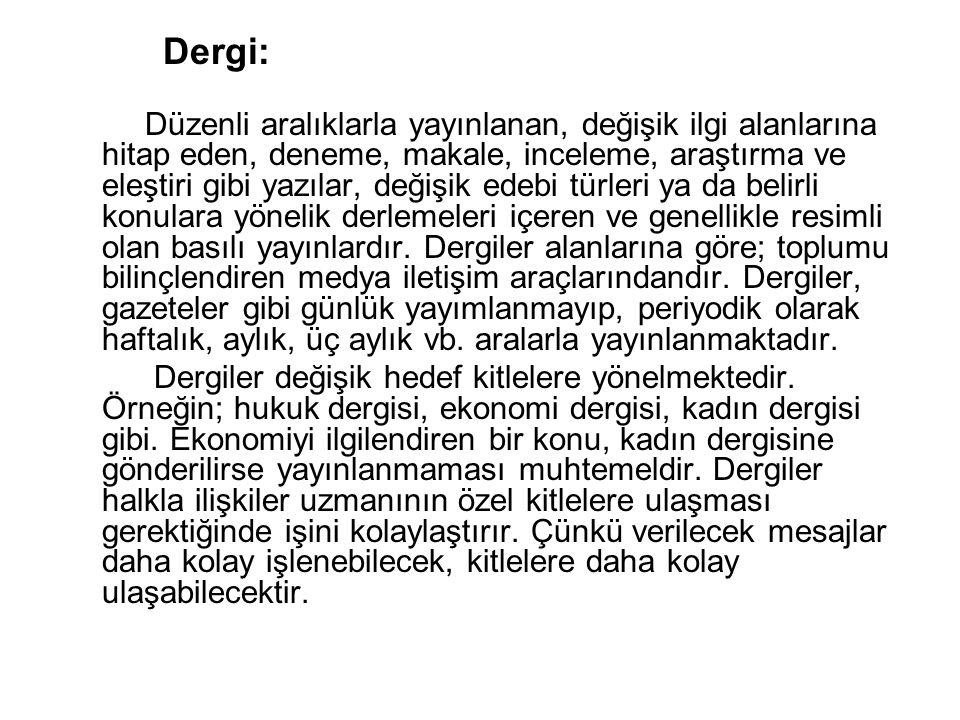 Dergi: