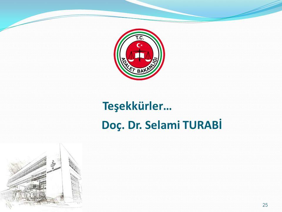 Teşekkürler… Doç. Dr. Selami TURABİ