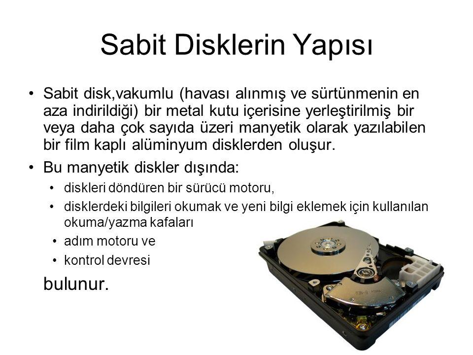 Sabit Disklerin Yapısı