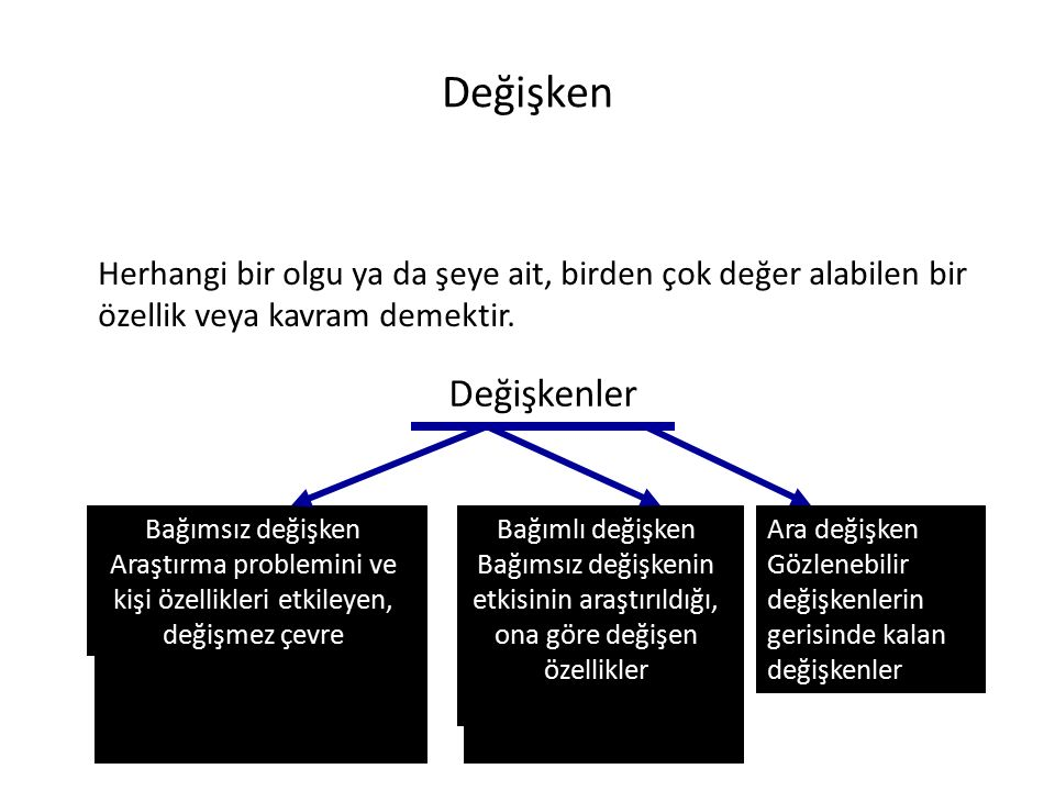 Araştırma problemini ve kişi özellikleri etkileyen, değişmez çevre