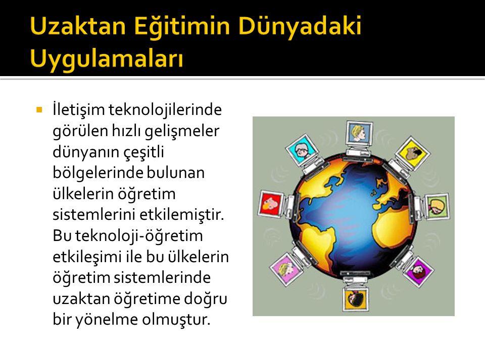 Uzaktan Eğitimin Dünyadaki Uygulamaları