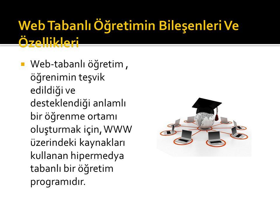 Web Tabanlı Öğretimin Bileşenleri Ve Özellikleri