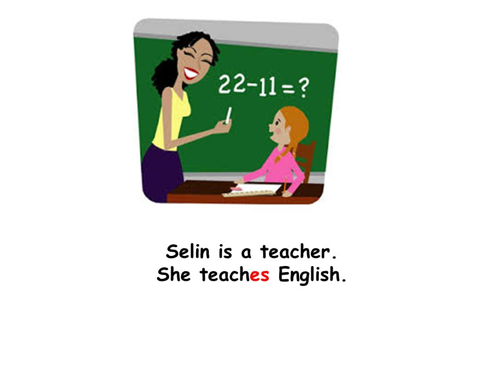 Selin is a teacher. She teaches English.