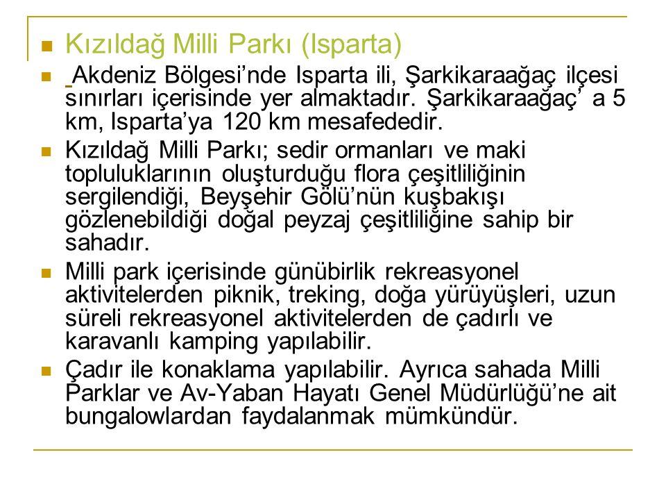 Kızıldağ Milli Parkı (Isparta)