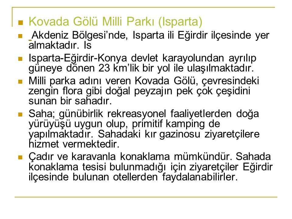 Kovada Gölü Milli Parkı (Isparta)