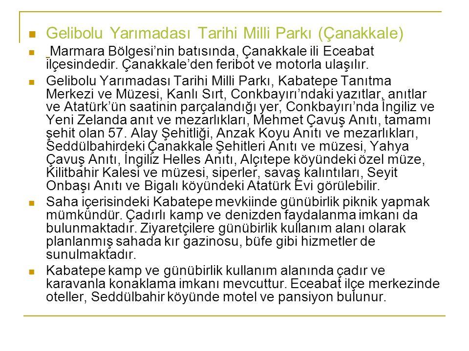 Gelibolu Yarımadası Tarihi Milli Parkı (Çanakkale)