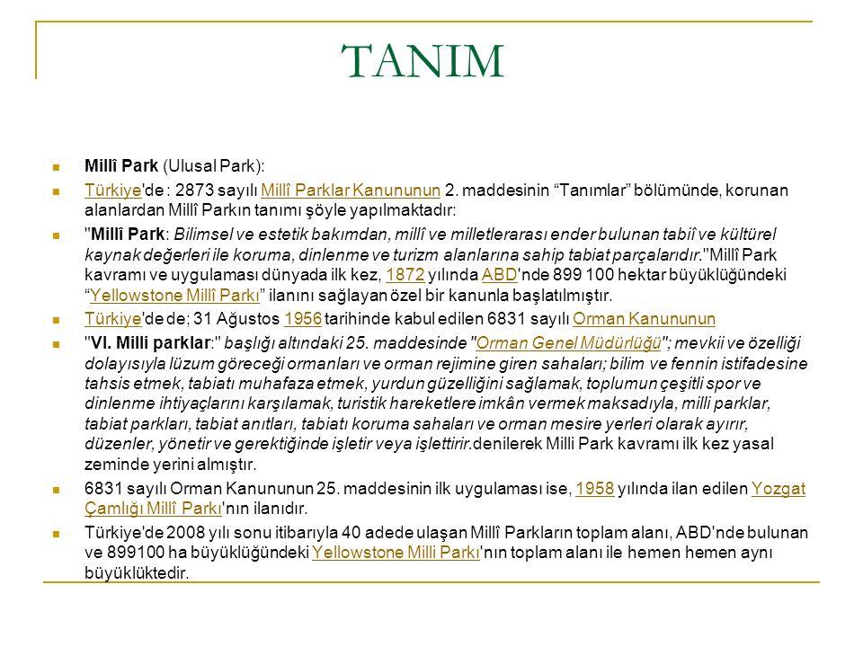 TANIM Millî Park (Ulusal Park):