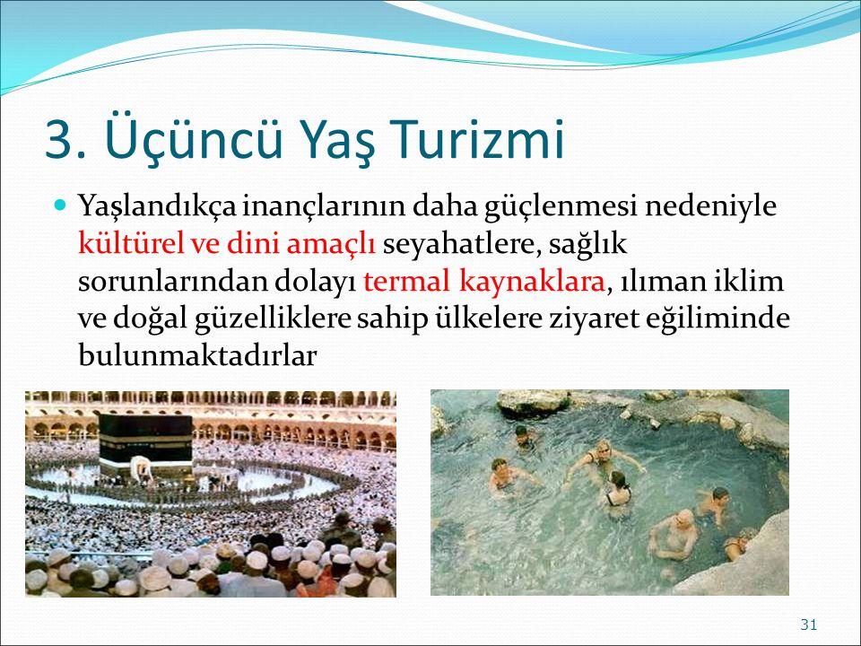 3. Üçüncü Yaş Turizmi