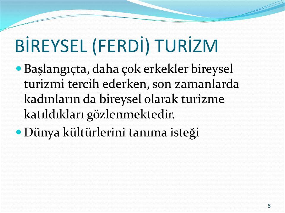 BİREYSEL (FERDİ) TURİZM