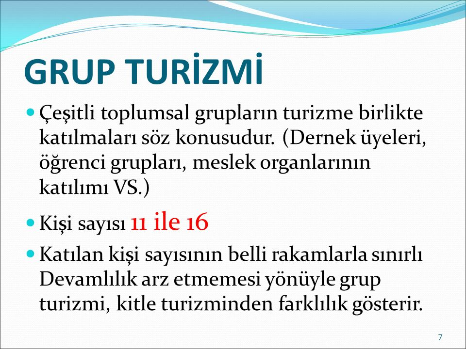 GRUP TURİZMİ