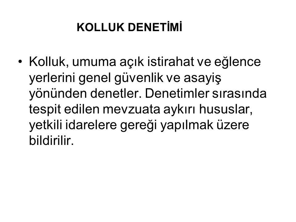 KOLLUK DENETİMİ