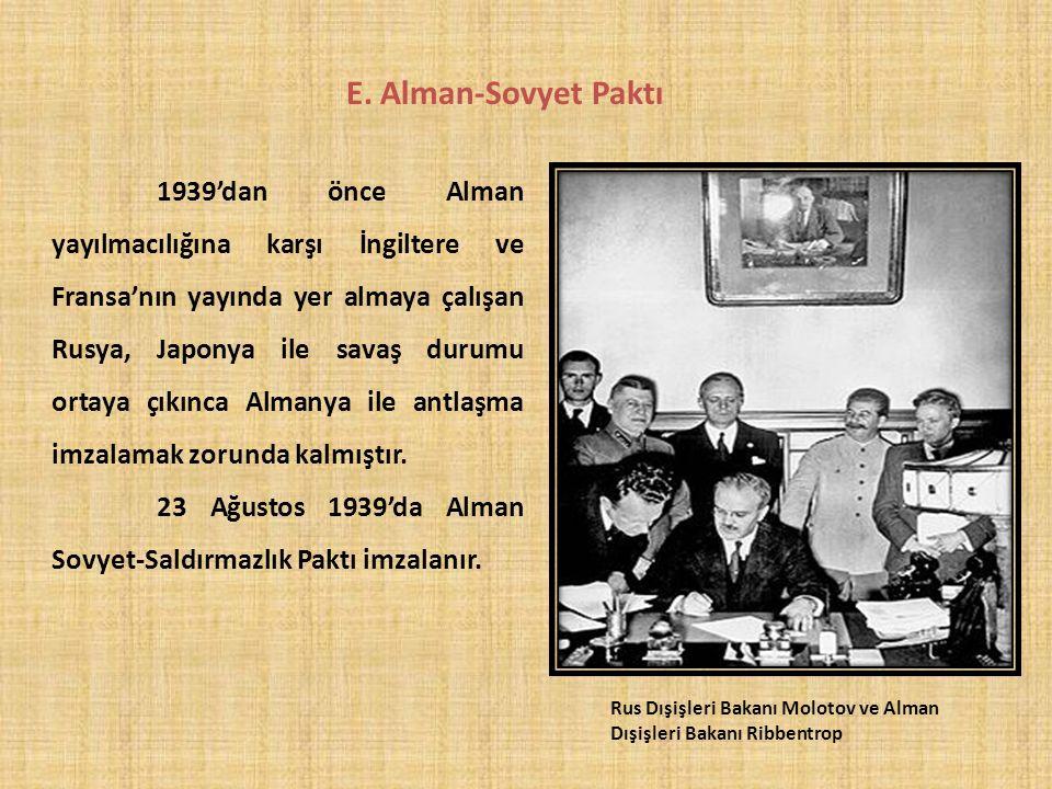 E. Alman-Sovyet Paktı