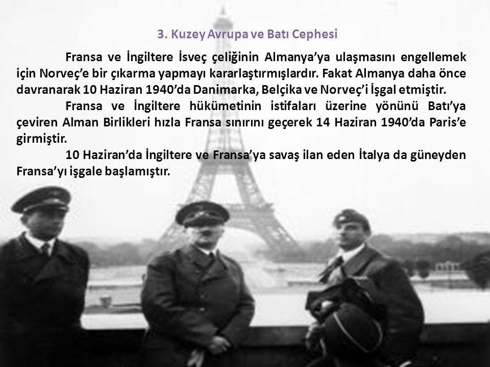 3. Kuzey Avrupa ve Batı Cephesi