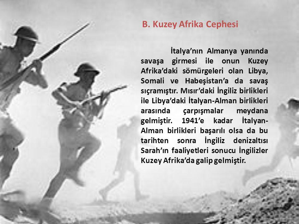 B. Kuzey Afrika Cephesi