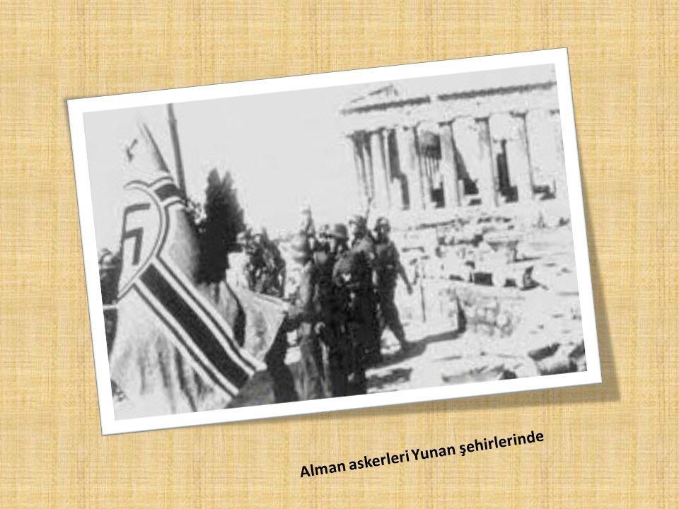 Alman askerleri Yunan şehirlerinde