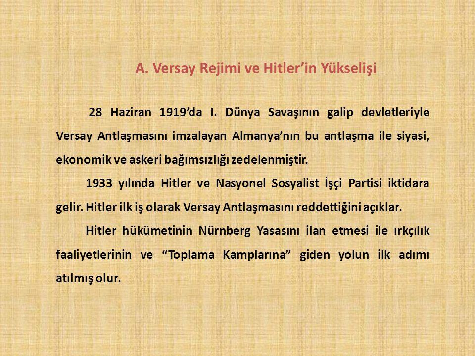 A. Versay Rejimi ve Hitler'in Yükselişi