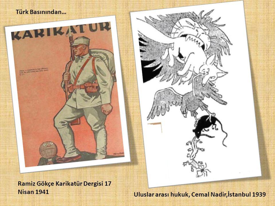 Türk Basınından… Ramiz Gökçe Karikatür Dergisi 17 Nisan 1941.
