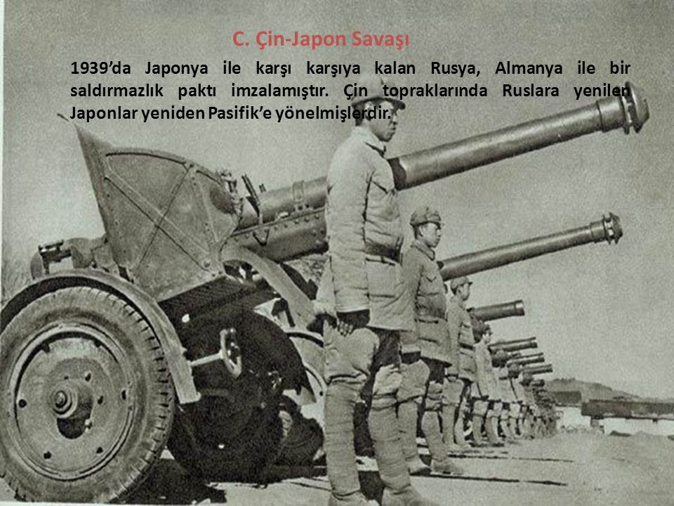 C. Çin-Japon Savaşı