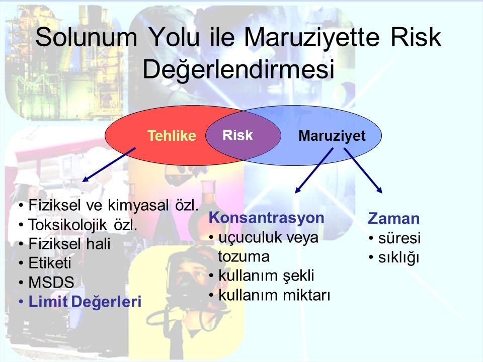 Solunum Yolu ile Maruziyette Risk Değerlendirmesi