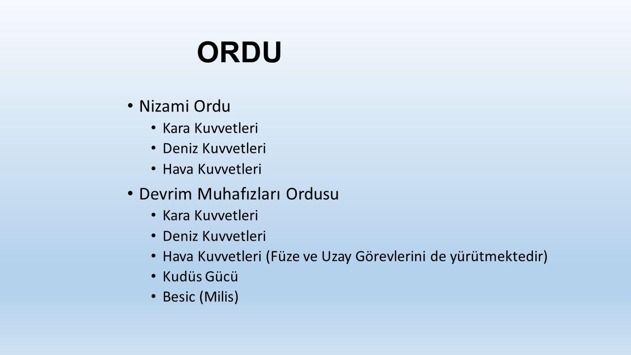 ORDU Nizami Ordu Devrim Muhafızları Ordusu Kara Kuvvetleri