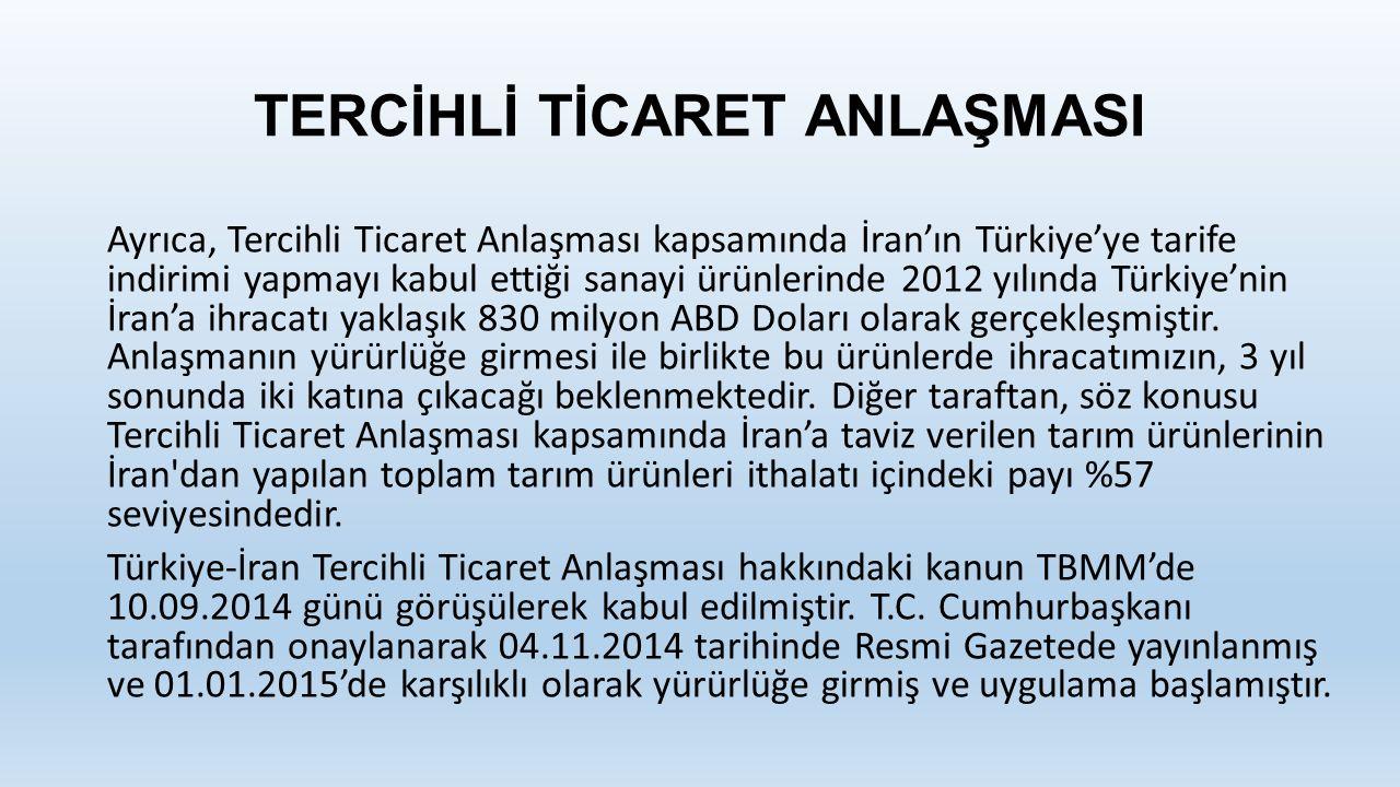TERCİHLİ TİCARET ANLAŞMASI