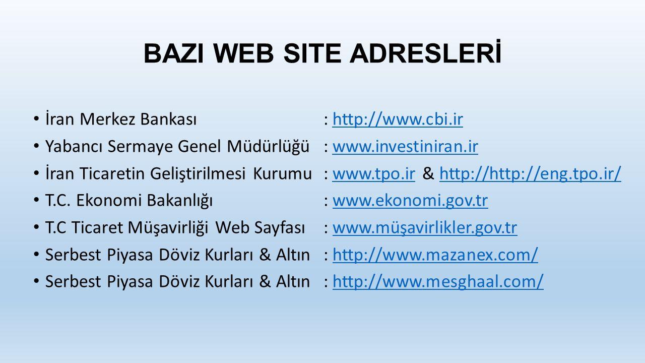 BAZI WEB SITE ADRESLERİ