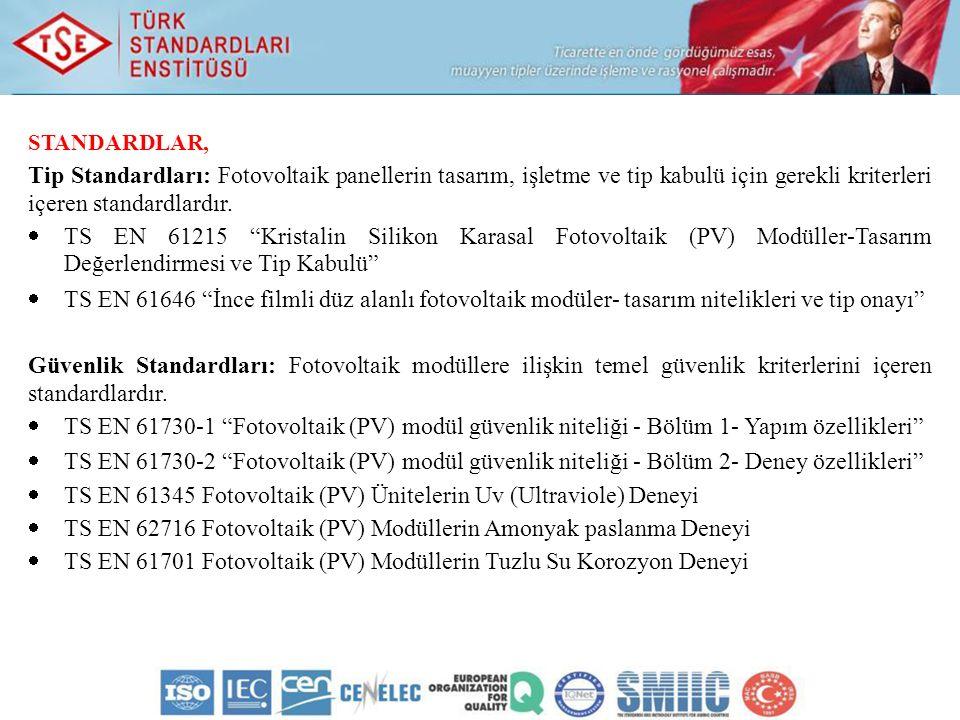 TS EN 61345 Fotovoltaik (PV) Ünitelerin Uv (Ultraviole) Deneyi