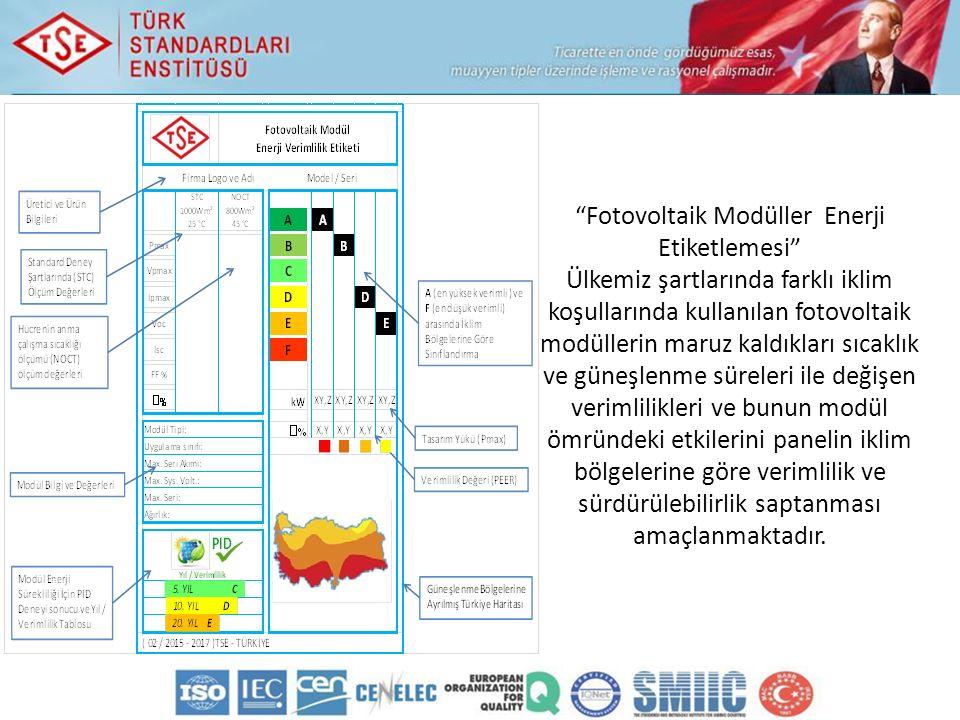 Fotovoltaik Modüller Enerji Etiketlemesi
