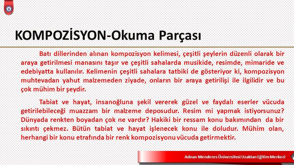 KOMPOZİSYON-Okuma Parçası