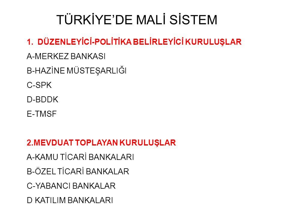 TÜRKİYE'DE MALİ SİSTEM