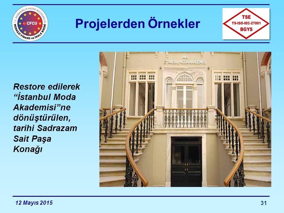 Projelerden Örnekler Restore edilerek İstanbul Moda Akademisi ne dönüştürülen, tarihi Sadrazam Sait Paşa Konağı.