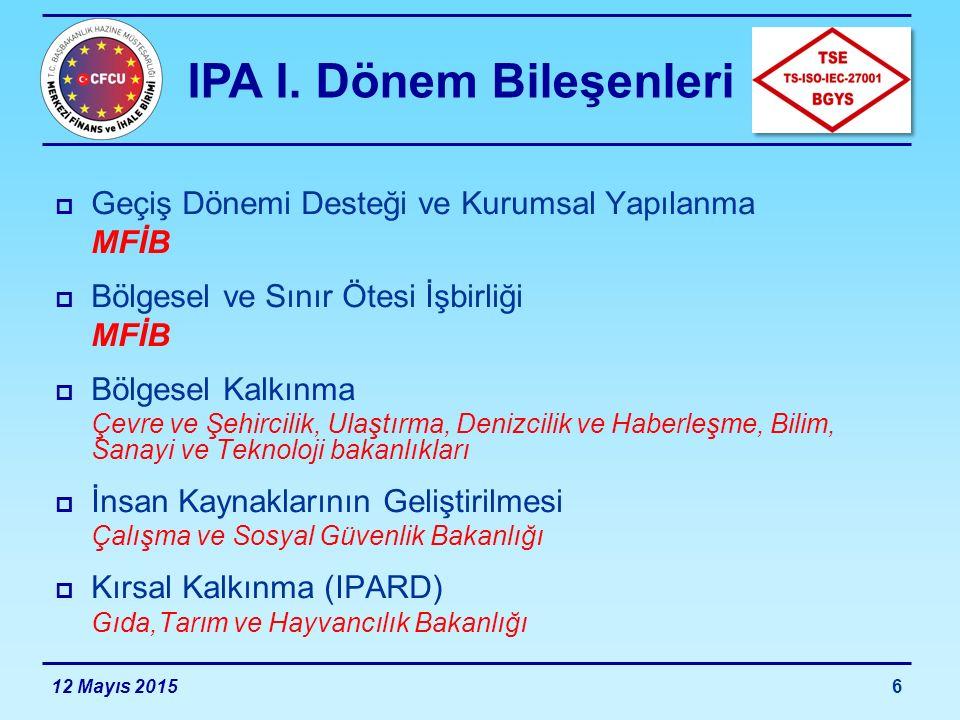 IPA I. Dönem Bileşenleri