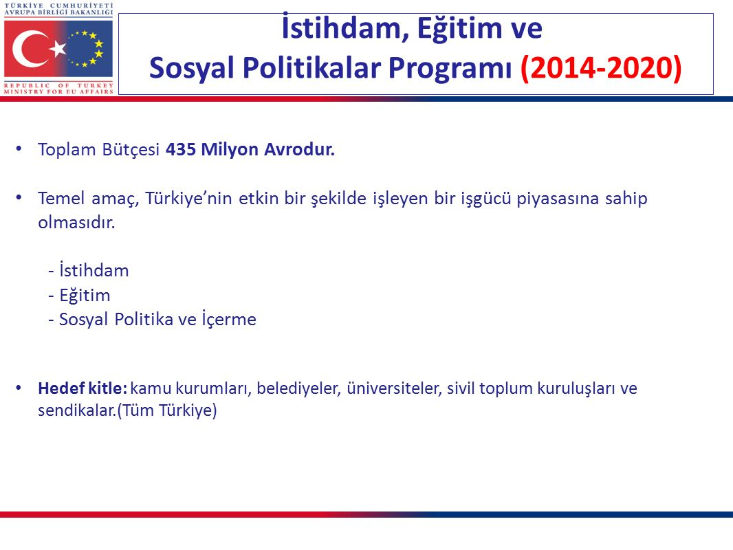 Sosyal Politikalar Programı (2014-2020)