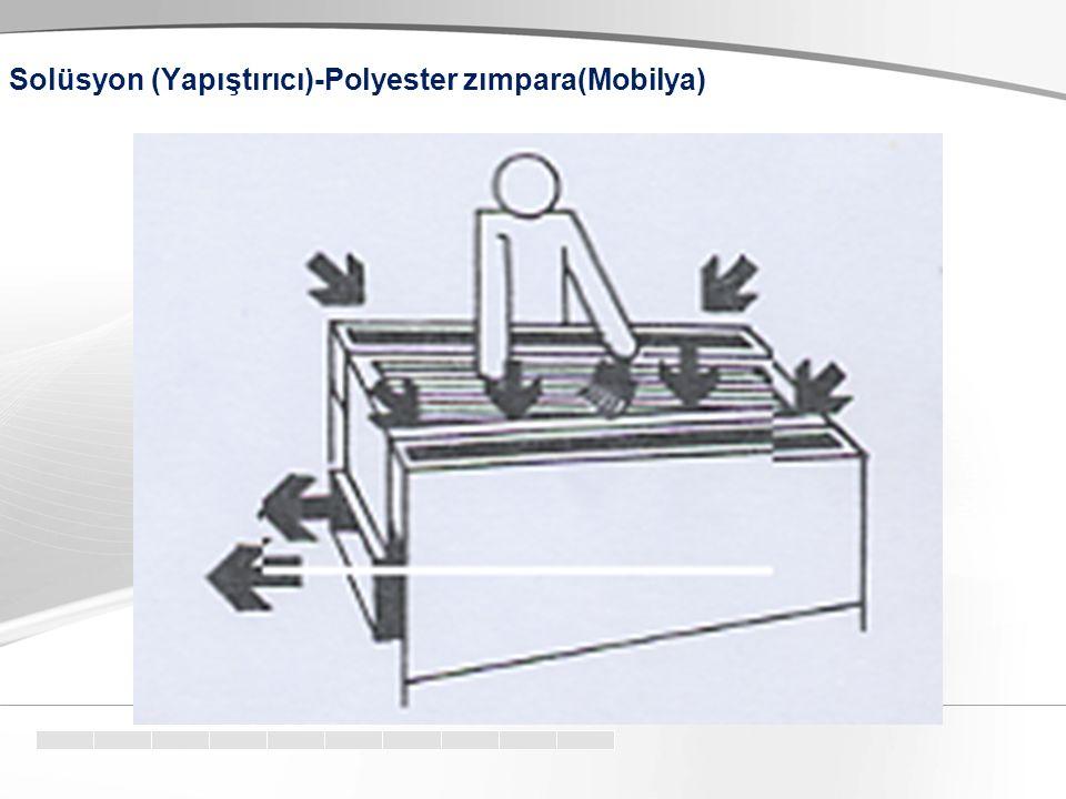 Solüsyon (Yapıştırıcı)-Polyester zımpara(Mobilya)