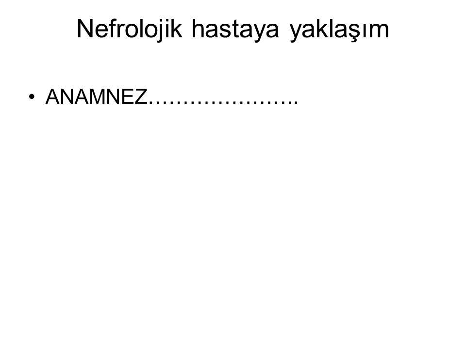 Nefrolojik hastaya yaklaşım