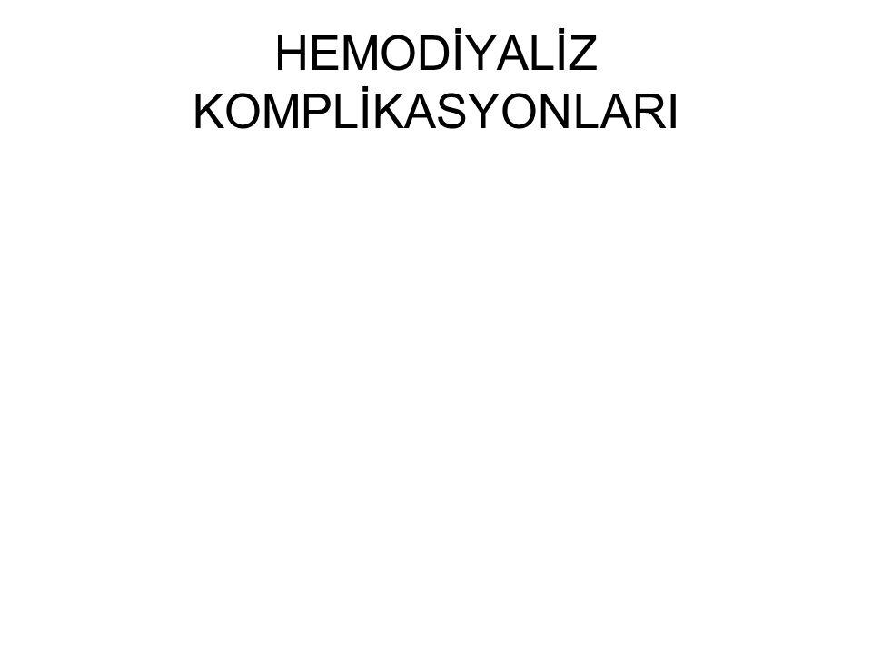 HEMODİYALİZ KOMPLİKASYONLARI