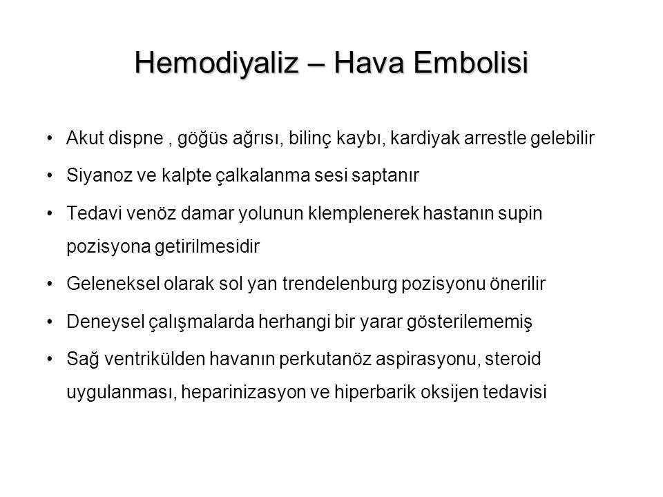 Hemodiyaliz – Hava Embolisi